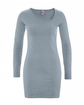 DIANA Dámské šaty z konopí a biobavlny - šedá aloe