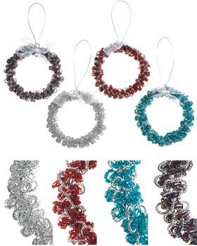Vánoční věneček - různé barvy