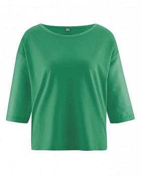 MERIL dámský top z konopí a biobavlny - zelená smaragdová