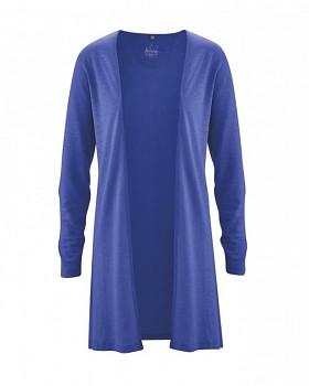 IRIS dámský kardigan z konopí a biobavlny - modrá chrpová