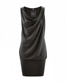 LETICIA Dámské letní šaty z konopí a biobavlny - černá