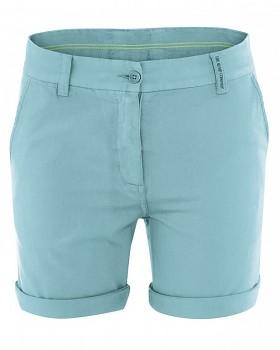 JANE dámské letní šortky z konopí a biobavlny- tyrkysová