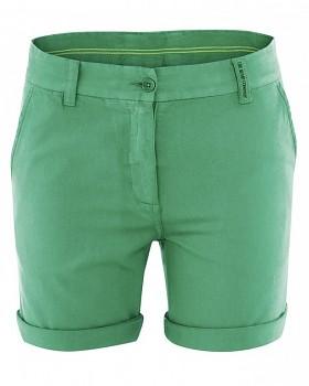 JANE dámské letní šortky z konopí a biobavlny - zelená smaragdová