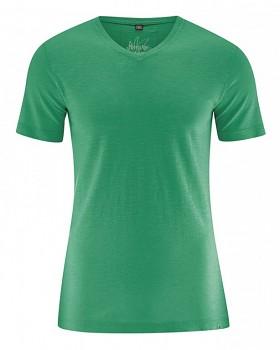 VINCE pánské tričko z biobavlny a konopí - zelená smaragdová