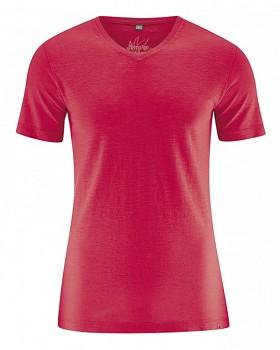 VINCE pánské tričko z biobavlny a konopí - červená chilli