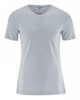 VINCE pánské tričko z biobavlny a konopí - platinová