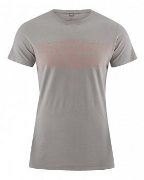 TYPO pánské tričko s krátkým rukávem z biobavlny a konopí -  šedohnědá mud