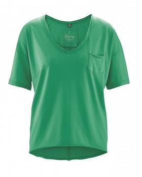 EMILY dámský top z konopí a biobavlny - zelená smaragdová