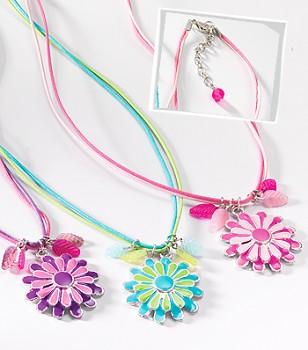 MIRAMAR květinkový náhrdelník se smaltovaným přívěskem