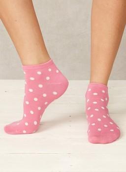 Dámské kotníčkové bambusové ponožky - růžová