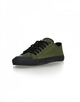 Fair Trainer Black cap Lo cut Classic tenisky - zelená camping/ černá jet