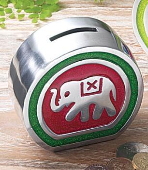 ELEPHANT kovová pokladnička