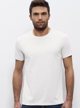 STANLEY LEADS Pánské tričko s krátkým rukávem ze 100% biobavlny - bílá