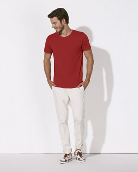 STANLEY LEADS Pánské tričko s krátkým rukávem ze 100% biobavlny - červená