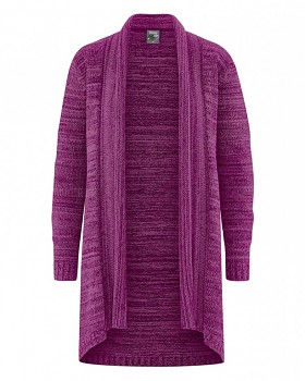 THERESA Dámský svetr z biobavlny a konopí - fialová berry