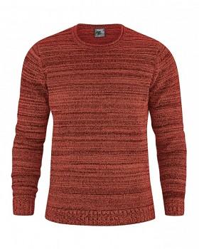 JONAS pánský pletený svetr z konopí a biobavlny - šípková