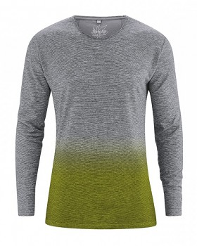 FELIX pánské tričko s dlouhým rukávem z konopí a biobavlny - jablková