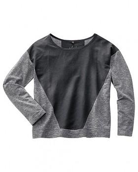 INA dámské triko s dlouhým rukávem z konopí a biobavlny - černá