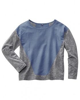 INA dámské triko s dlouhým rukávem z konopí a biobavlny - modrá borůvková