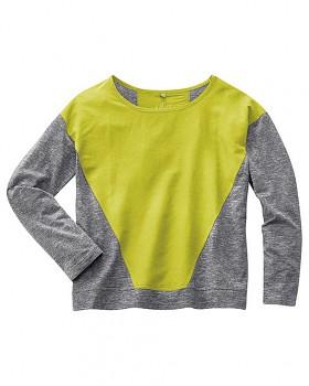 INA dámské triko s dlouhým rukávem z konopí a biobavlny - zelená jablková