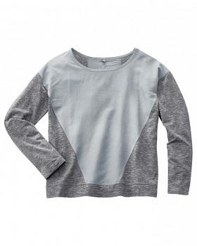 INA dámské triko s dlouhým rukávem z konopí a biobavlny - světle šedá platinová