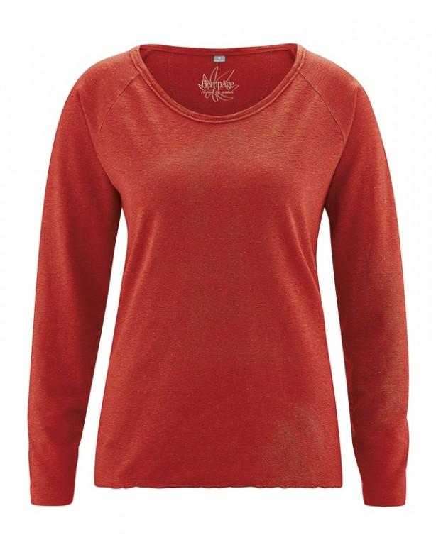 f4d7a79626 JOYA dámské triko s dlouhým rukávem z konopí a biobavlny - fialová ...
