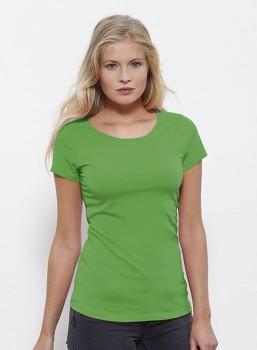STELLA WANTS Dámské tričko s kulatým výstřihem ze 100% biobavlny - zelená