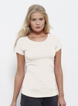 STELLA WANTS Dámské tričko s kulatým výstřihem ze 100% biobavlny - bílá