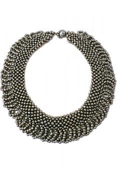 TIBOLI korálkový náhrdelník (obojek) - stříbrná