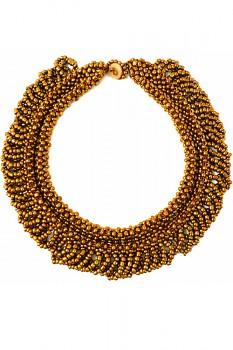 TIBOLI korálkový náhrdelník (obojek) - měděná