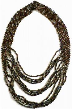 TIBOLI korálkový náhrdelník - bronzová