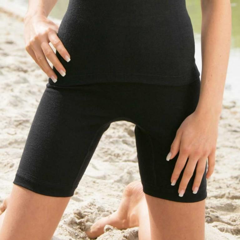 Dámské kalhotky s nohavičkou z merino vlny a hedvábí - černá 30denni ... 35ee8b8b33