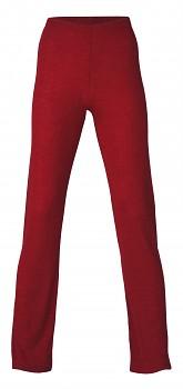 Dámské pyžamové kalhoty z merino vlny a hedvábí - červená malve
