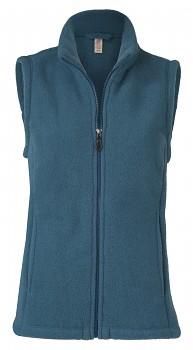Dámská fleecová vesta ze 100% bio merino vlny - modrá atlantik