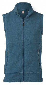 Pánská fleesová vesta ze 100% bio merino vlny - modrá saphire