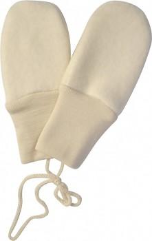 Kojenecké rukavičky bez palců ze 100% bio merino vlny (fleece) - přírodní