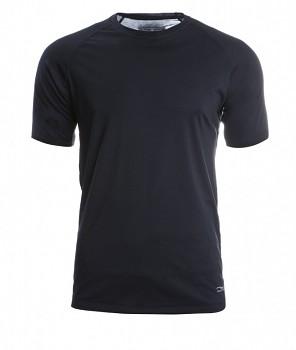 Pánské sportovní tričko s kr. rukávy z bio merino vlny a hedvábí - černá
