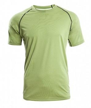 Pánské sportovní tričko s kr. rukávy z bio merino vlny a hedvábí - zelená lime