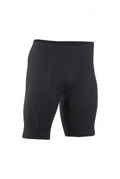 Pánské sportovní šortky z bio merino vlny a hedvábí - černá