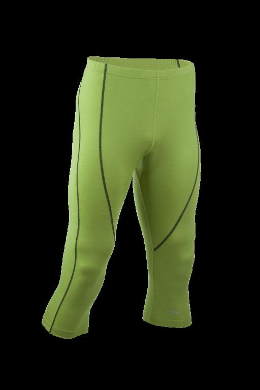 24e55f6db4 Pánské sportovní 3 4 legíny z bio merino vlny a hedvábí - zelená lime