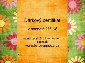 Dárkový certifikát v hodnotě dle vašeho přání