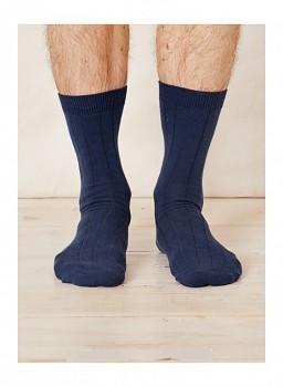 Klasické ponožky z konopí - tmavě modré  navy