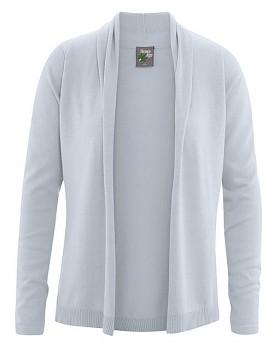 VERONIQUE dámský svetr z biobavlny a konopí - šedá platinová