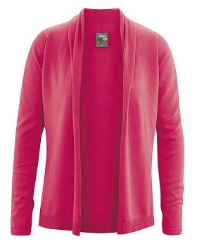VERONIQUE dámský svetr z biobavlny a konopí - červená tomato