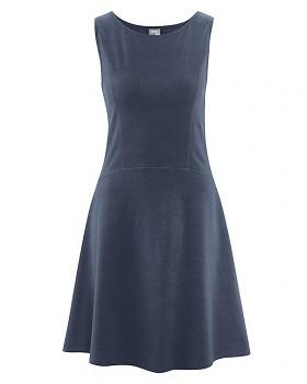 DAISY Dámské šaty z konopí a biobavlny - tmavě modrá wintersky