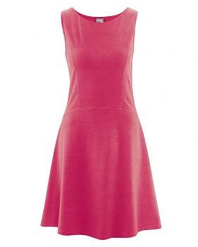 DAISY Dámské šaty z konopí a biobavlny - červená tomato