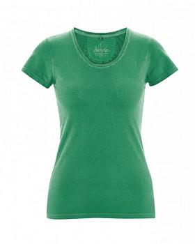 SUNNY Dámské tričko z biobavlny a konopí - zelená smaragdová