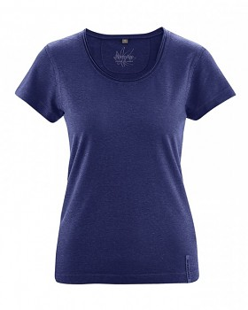 BREEZY dámské triko s krátkým rukávem z konopí a biobavlny - tmavě modrá night