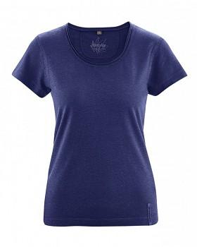 BREEZY dámské triko s krátkým rukávem z konopí a biobavlny - modrá night