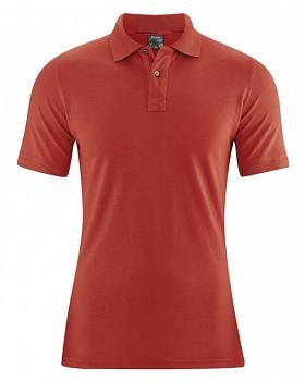 MARIO pánské polo tričko z konopí a biobavlny - červená šípková
